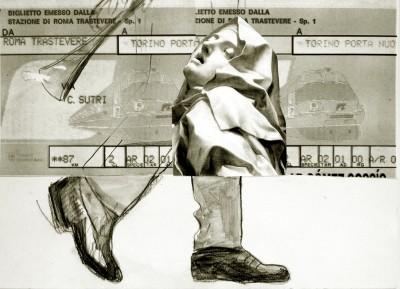 ROMA TRASTEVERE TORINO P.N. disegno/collage