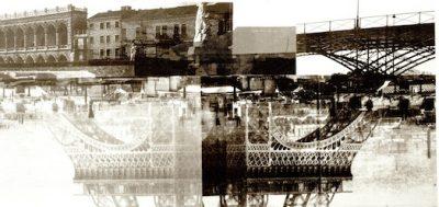 """Ether"" , fotomontaje, 100 x 200 cm /Paris 01"